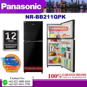 Harga panasonic nrbb201qpk kulkas 2 pintu 196 liter ag clean inverter eco | HARGALOKA.COM