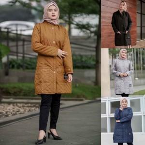Harga jaket jacket panjang muslimah wanita cewek hijaber hijacket blv 1   marigold | HARGALOKA.COM
