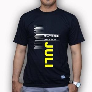 Harga kaos baju t shirt lelaki pria ayah terbaik lahir bulan juli kaos | HARGALOKA.COM