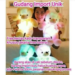 Harga boneka beruang led import 50cm super quality mainan anak | HARGALOKA.COM