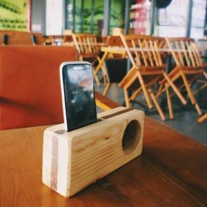 Harga hopen wood smartphone amplifier acoustic wood speaker speaker | HARGALOKA.COM