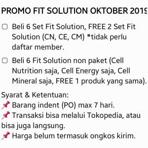 Harga promo fit solution beli 3 set gratis 1 | HARGALOKA.COM