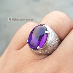Harga cincin batu akik kecubung kalimantan size   HARGALOKA.COM