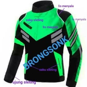 Harga jaket motor turing polos harian ojol   hijau | HARGALOKA.COM