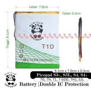 Harga baterai axioo picopad 7 gdd 7h2 s2l tablet t1d double ic | HARGALOKA.COM