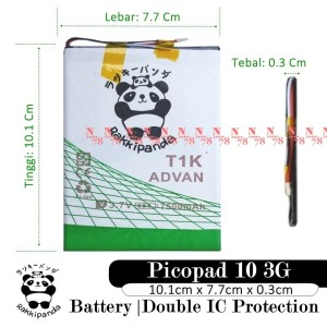Harga baterai axioo picopad 10 3g tablet t1k double ic | HARGALOKA.COM