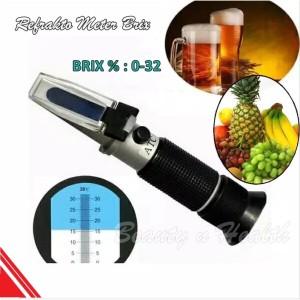 Harga alat ukur kadar gula makanan minuman refractometer brix with | HARGALOKA.COM