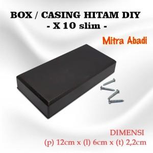 Harga box kotak casing plastik x10 slim for komponen ukuran 12 x 6 x 2 2 | HARGALOKA.COM