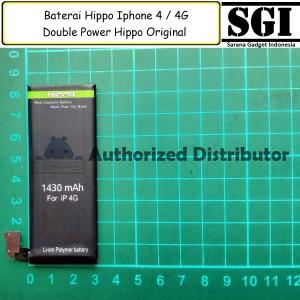 Harga baterai hippo double power original apple iphone 4 4g batre batrai | HARGALOKA.COM