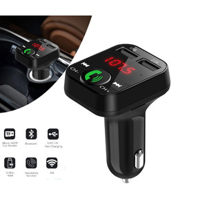 Harga car fm modulator mobil bluetooth charger usb plus slot memory | HARGALOKA.COM