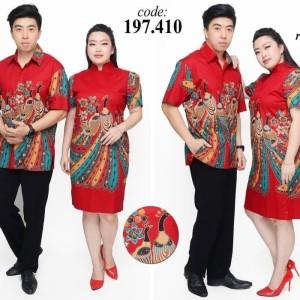 Harga dress batik natal imlek jumbo wanita 410   | HARGALOKA.COM