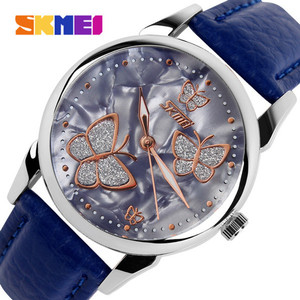 Harga skmei butterfly 9079 biru original jam tangan import murah tahan air     HARGALOKA.COM