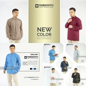 Harga new baju koko pria muslim lengan panjang polos big size xxl mabsooth   putih | HARGALOKA.COM