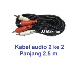 Harga kabel rca jack konektor 2k2 utk speker 2 5m   audio cable for | HARGALOKA.COM
