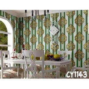 Harga cy1143 motif batik salur hijau wallpaper stiker ukuran 45cm x | HARGALOKA.COM