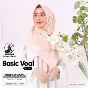 Harga jilbab segi empat polos basic voal umama scarf | HARGALOKA.COM
