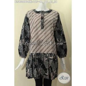 Harga blouse batik wanita gemuk krah paspol kancing depan size xxl | HARGALOKA.COM