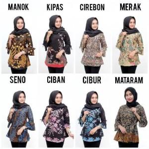 Harga baju batik wanita atasan batik wanita baju kantor atasan | HARGALOKA.COM