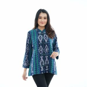 Harga atasan wanita blouse etnik bahan tenun asli | HARGALOKA.COM