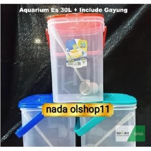 Harga aquarium es kelapa toples es buah kotak 30liter bisa buka sebelah   HARGALOKA.COM