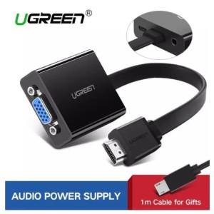 Harga ugreen hdmi to vga adapter converter cable for pc laptop hdtv xbox ps4   no audio | HARGALOKA.COM