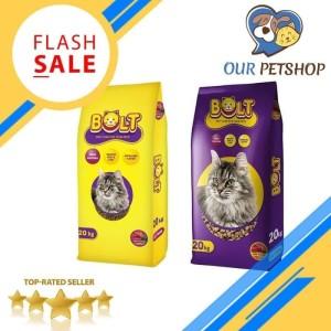 Harga makanan kucing murah bolt 1kg sekelas maxi felibite universal whiskas   bentuk   HARGALOKA.COM