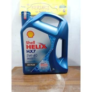 Harga oli shell helix hx7 plus 5w 40 4l galon   oli shell helix hx7 5w 40   HARGALOKA.COM