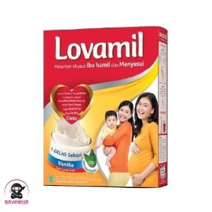 Harga lovamil ibu hamil menyusui vanilla susu box 120   HARGALOKA.COM