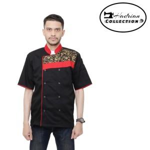 Harga baju koki combination batik baju chef seragam koki propesional   | HARGALOKA.COM