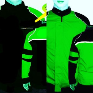 Harga jaket motor polos ojol hitam hijau   hitam | HARGALOKA.COM