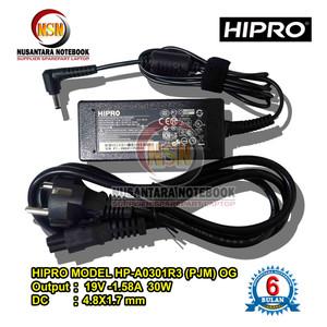 Harga adaptor charger original hipro 19v 1 58a small plug axioo pico   HARGALOKA.COM