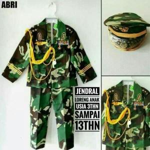 Harga baju loreng abri jendral anak   no 1 loreng | HARGALOKA.COM