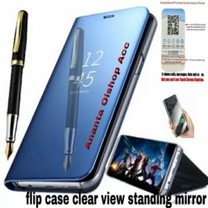 Harga flip case asus zenfone max pro m2 clear view standing   HARGALOKA.COM