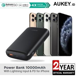 Harga aukey powerbank 10000mah with lightning input amp pd for iphone   | HARGALOKA.COM