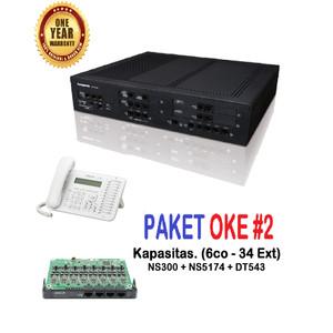 Harga paket pabx oke 2 ns300 6co   34ext kx dt543   | HARGALOKA.COM