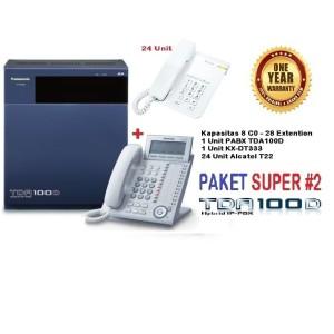 Harga paket super 2 panasonic pabx kx tda100d kap 8 co   28 | HARGALOKA.COM