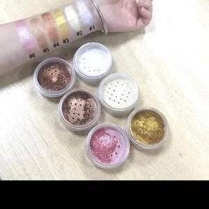 Harga eyeshadow glitter shimer highlighter loose powder eye shadow gold   | HARGALOKA.COM