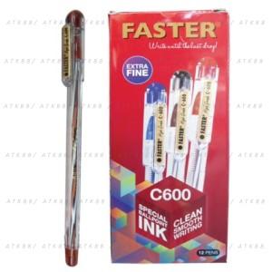 Harga pulpen faster c600 extra fine tip   1 pack 12 | HARGALOKA.COM