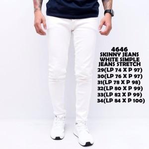 Harga skinny jeans white simple celana jeans pria skinny | HARGALOKA.COM
