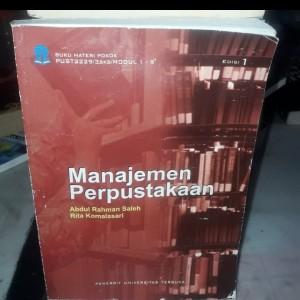 Harga buku ori manajemen perpustakaan edisi 1 terbitan universitas | HARGALOKA.COM