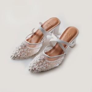 Harga vaia sepatu heels wanita sepatu scarlet white 7cm     HARGALOKA.COM