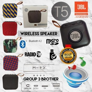 Harga jbl t5 portable mini wireless speaker bluetooth v 4 | HARGALOKA.COM
