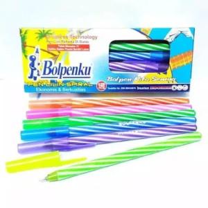 Harga 1 pack bolpenku pulpen lilin isi tinta hitam | HARGALOKA.COM