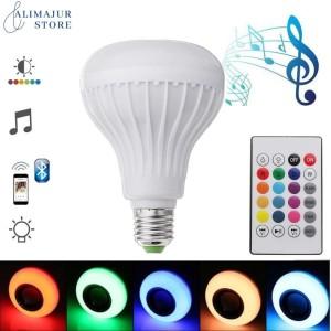 Harga bohlam speaker musik bluetooth 2 in 1   lampu speaker | HARGALOKA.COM