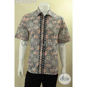 Harga baju batik pendek pria gemuk acara resmi dan santai size xxl | HARGALOKA.COM