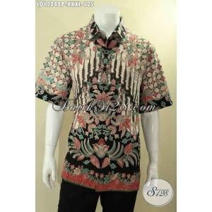 Harga kemeja batik lengan pendek pria gemuk motif mewah size xxxl | HARGALOKA.COM