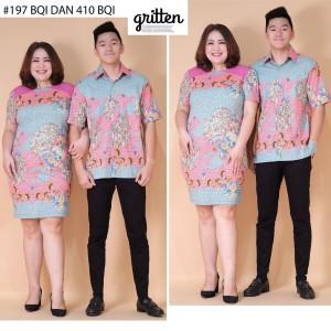 Harga dress batik jumbo natal imlek valentine bqi   merah | HARGALOKA.COM