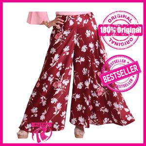 Harga celana kulot panjang motif bunga simpel   rocella kulot khanaya   | HARGALOKA.COM