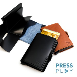 Harga classic rfid leather pop up card case wallet by press play   midnight | HARGALOKA.COM