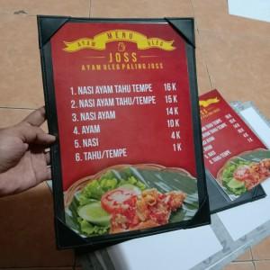 Harga buku menu 1 muka | HARGALOKA.COM